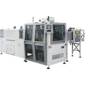BP802ARV 350R-SP – Fardeleuse automatique monobloc avec entrée à 90° et barre de soudure